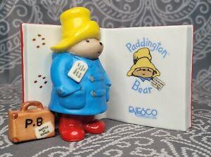 1990 Enesco Paddington Bear Eden Toys Porcelain Book Figurine