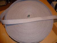 1 METER ( €2,20/m) GURTBAND, TASCHENGURT BAUMWOLLE Fb GRAU Br. ca.32 mm Nr.29