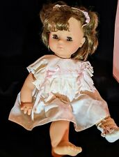 Vintage Max Zapf 1986 West Germany Doll 20� Brown Sleepy Eyes/ Hair Org Dress Jh