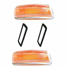 VW Kombi Turn Signal Lens & Seals Set Front, Bus 1968-1972 Volkswagen