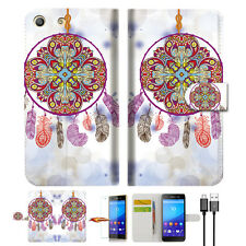Dream Catcher Wallet TPU Case Cover For Sony Xperia M5 -- A016