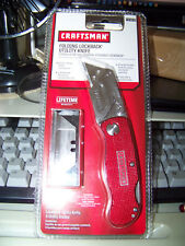 SEARS Craftsman RED Metal Folding  Utility Knife Red
