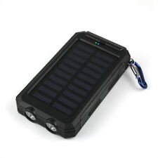 AU Portable Solar Power Bank 50000mah Dual LED 2usb Battery Charger for iPhone 8