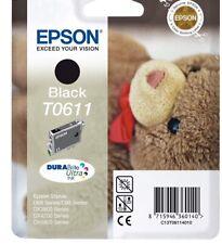 Genuine Unused Original Epson T0611 Black ink cartridge