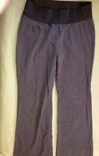 "Liz Lange Maternity dress slacks, size 10, waist 32""-38"", 3"" band, brown stripe"