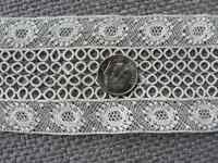 Antique Insertion Lace Scrap Edging Fragment Trim Doll Sewing Cotton