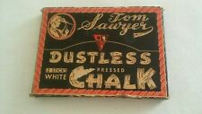 Vintage Tom Sawyer Dustless Pressed Chalk - Standard Toykraft No.55