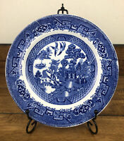 Vintage Ye Olde Willow Blue Staffordshire England  9 Inch Plate