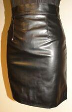 jupe T 34 36 courte aspect cuir brillant droite et étroite doublure 152