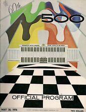 1976 INDY 500 OFFICIAL PROGRAM- BOBBY UNSER 1975 WINNER - JORGENSEN #48
