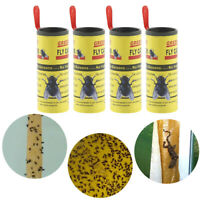 4 Rolls Sticky Fly Paper Eliminate Flies Insect Bug Glue Paper Catcher Trap US