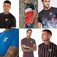 11 DEGREES Mens Designer Crew Neck Casual Fashion Stylish T-Shirt Tee Top