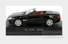 Mercedes Benz Sl-Class 600Sl R230 2003 Black EDICOLA 1:43 MEBEOFMOSAMCOLL052