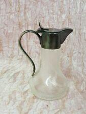 Piccola Caraffa in cristallo lavorazione a torchon Liberty h. cm. 11 M10 ^