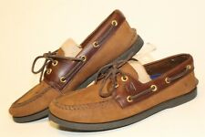 Sperry Top-Sider Mens Size 8.5 M Leather 2-Eye Lace Up Boat Shoes 0195412