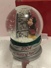 2004 JC Penney Disney Mickey Mouse Mini Snow Globe Christmas 75 Years of Fun!