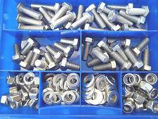 205 pezzi acciaio inox viti DIN 933 DADI SCATOLA M8 Set inossidabile V2A