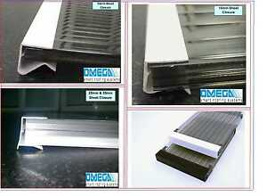 End Closure / Drip Channel for Polycarbonate Roofing Sheets - 2.1m   10mm -35mm