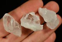 3 QUARTZ CRYSTAL CLUSTERS 2-3cm 27g Clear Healing Gift Master Healer