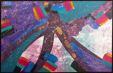 William Craig Original Acrylic Painting on Paper abstract fine artwork MakeOffer