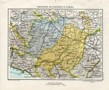 Pubblicitaria Farmaceutica G. Zoja - Cartina Mappa di Piacenza e Parma - PU148