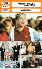 FICHE CINEMA : PRIMARY COLORS - Travolta,ThompsonBates,Hagman,Nichols 1998