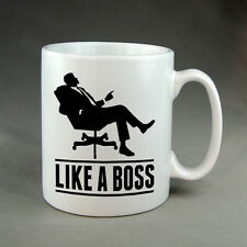 LIKE A BOSS MUG CUP - CHRISTMAS/BIRTHDAY/FATHER'S DAY GIFT