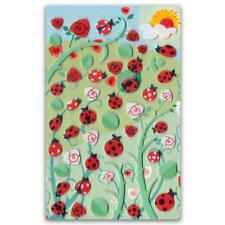 ✰ CUTE LADYBUG FELT STICKERS Sheet Bugs Inscent Animal Fuzzy Scrapbook Sticker