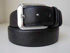 L Size 38-40 New Men's Black Textured Jeans Casual Dress Leather Belt