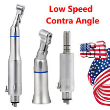 Dental Low Speed Handpiece Latch Contra Angle E Type Air Motor Micromotor 4hole