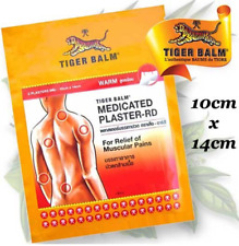 x6 Large Tiger Balm Plaster WARM Medicated Relief Muscular Back Pains 10x14 cm