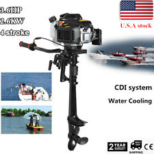 4 Stroke 3.6 HP Outboard Motor 55CC Boat Engine & Air Cooling System 360 degree