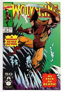 Wolverine Marvel Comics #44 Aug 1991 A Menace as old as time cold as death