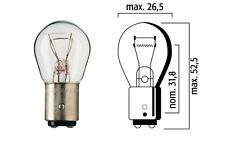 FLOSSER LAMPADINA BAY15D 6V 21/5W BIANCO TACHIMETRO AUTO MOTO CICLO LAMPADA LUCE