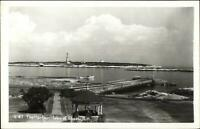 Isles of Shoals NH Harbor Lighthouse c1950 Real Photo Postcard