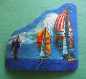 3 Sailboats -  New Iron-On Patch
