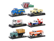 AUTO TRUCKS 6 PIECE SET RELEASE 46 IN ACRYLIC CASES 1/64 BY M2 MACHINES 32500-46