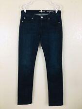 7 For All Mankind Womens Jeans Size 29 Dark Blue Straight Leg Denim