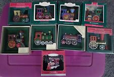 Hallmark Tin Train Locomotives + Anniversary Edition Train complete set of 9