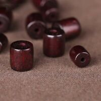 50pcs Natural Red Sandalwood  Loose Beads Smooth Spacer Wood Bead 6/8mm