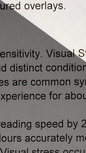 A4 0.3 Light Grey Coloured Sheet Overlay Dyslexia Transparent Stress reading