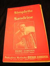 Partition Simplette Primo Corchia Sandrine Music Sheet