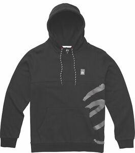 éS ES Split Mens Contrast Logo Black Hoodie Sweat Brand New Clearance Sale