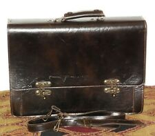 Briefcase Business Messenger Bag Laptop Faux Leather Brown VGC