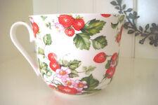 Jumbobecher 0,5l Kaffeebecher XL Erdbeere Brillant Porzellan Veganer geeignet
