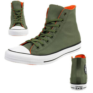 Converse C Taylor All Star Hi Chuck Shoes Trainers Lightweight Nylon Green