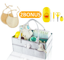 Baby Diaper Caddy Organizer & Storage Bin | Portable Nursery Holder Bag