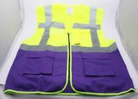 Yoko Sicherheitsweste Multi Functional Executive Hi-Vis, XL, Yellow/Purple *NEU*