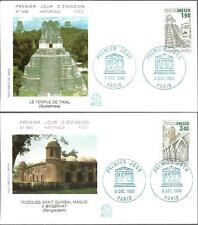 S91/92+ FDC 2  ENVELOPPES  1er  JOUR     UNESCO