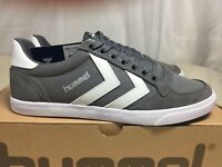 Hummel Slimmer Stadil Canvas, Unisex Low Top Grey Trainers UK Size 3 RRP £50